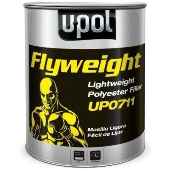 U-Pol 0711 FLYWEIGHT Smooth Metallic Body Filler - 3L