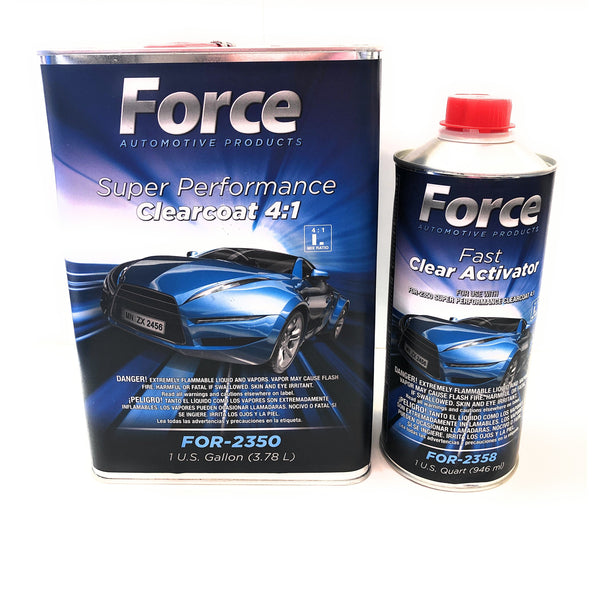 Force Super Performance Urethane Clearcoat w/Fast Activator 4:1 - Jerzyautopaint.com