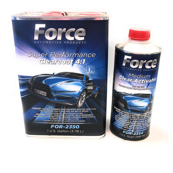 Force Super Performance Urethane Clearcoat w/Medium Activator 4:1 - Jerzyautopaint.com