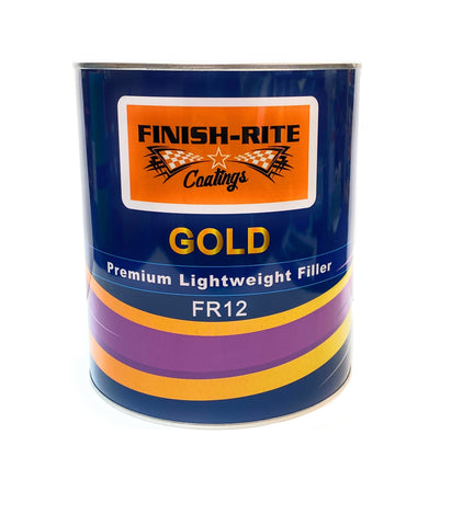 Finish-Rite FR12 GOLD Premium Lightweight Body Filler 3 Liter w/cream hardener -
