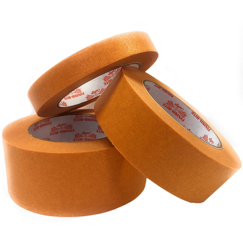 "Finish Rite Orange Masking Tape 3-Pack 3/4"", 1-1/2"", 2"" - Jerzyautopaint.com"