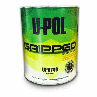 U-Pol UP 0749 Gripped Body Filler, Gray, 6lbs (3 liter)