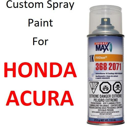 Custom Automotive Touch Up Spray Paint For HONDA / ACURA Cars -