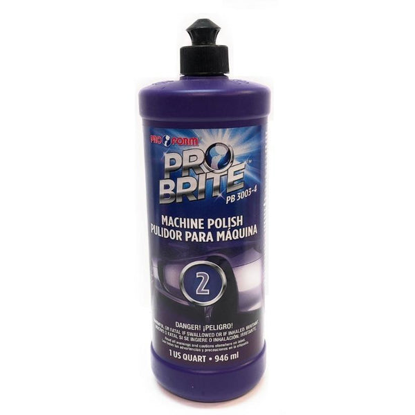 Pro Form Machine Polish #2 - Quart (946ml) Pro Brite PB3003-4