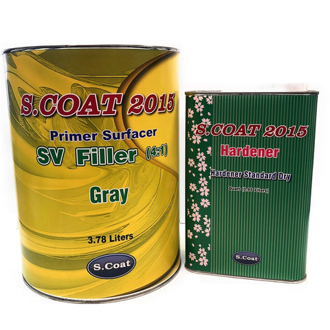 SCOAT 2K Filler Primer Surfacer w/ Qt Hardener 4:1 -