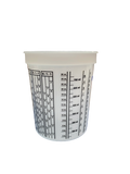 Finish-Rite Quart Paint Mixing Cups with calibrated mixing ratios (box of 100 cups) - Jerzyautopaint.com