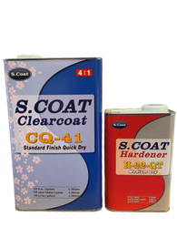 SCOAT CQ41 QUICK CLEAR COAT GAL W/ FAST HARDENER 4:1 (READY TO BUFF IN 15 MIN) -