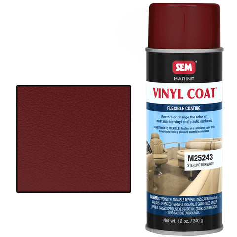 SEM-M25243 VINYL COAT™ STERLING BURGANDY -