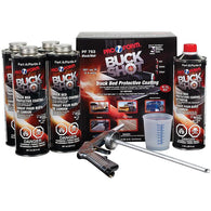 BUCK SHOT BRIGHT WHITE TRUCK BED LINER w/ SPRAY GUN AND WHITE BASECOAT PAINT -