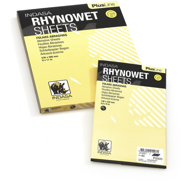 INDASA Plus Line, RHYNOWET Abrasive Sheets, 5-1/2 x 9 in, Box (50 Sheets) - Jerzyautopaint.com
