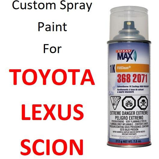 Custom Automotive Touch Up Spray Paint For TOYOTA / LEXUS Cars - Jerzyautopaint.com