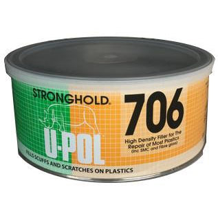 U-Pol Stronghold High Density Filler for The Repair of Most Plastics, 600 ml, UP706 -