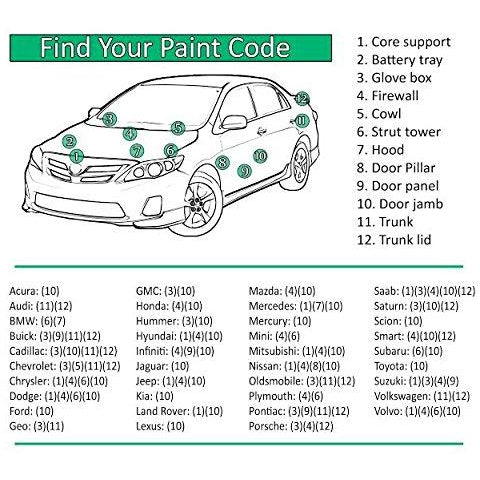Custom Automotive Touch Up Spray Paint For CHEVY/GMC/ Cars
