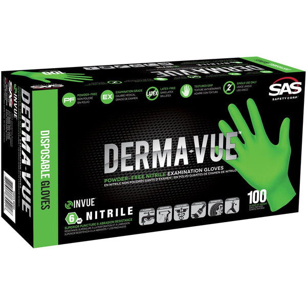Derma-Vue Nitrile Disposable Glove (Powder-Free) -