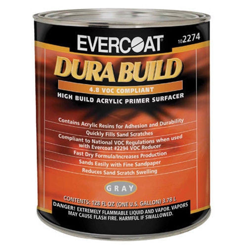 Evercoat Dura-Build Acrylic Primer Surfacer - Gray, 2274 ,  1 Gallon - Jerzyautopaint.com