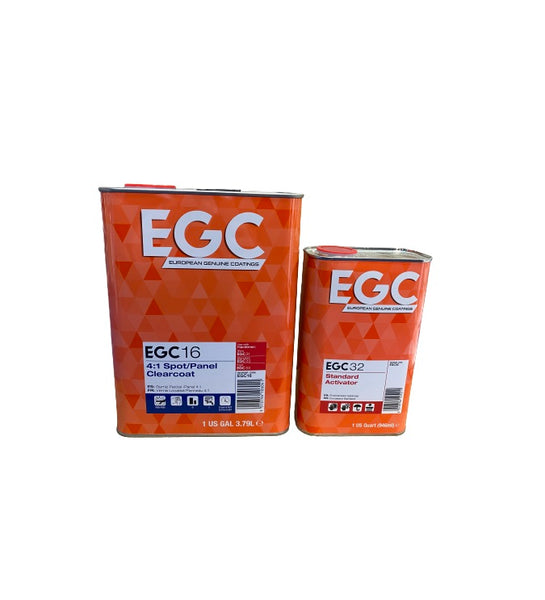 EGC 16 European Spot Panel Clear Coat 2K Urethane 1 Gallon/1 Quart Activator by UPOL -