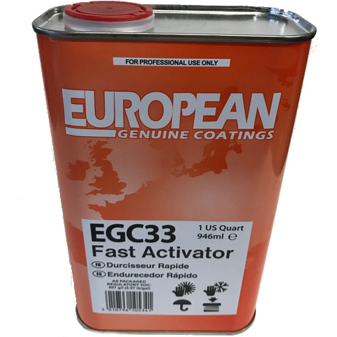 European Genuine Coatings Hardener, Slow/Medium/Fast, EGC31, EGC32, EGC33 - Jerzyautopaint.com