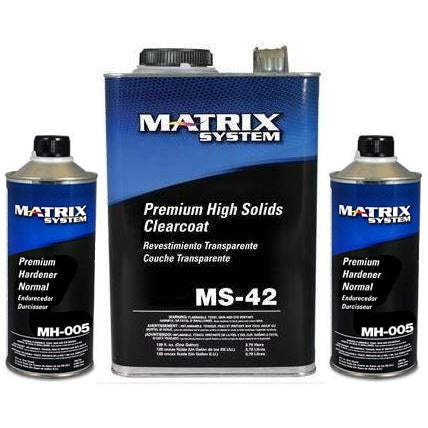 Matrix MS-42 Premium High Solid 2:1 Clearcoat w/ 2Qt Hardeners -