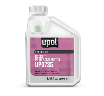 U-POL Rocket Paint Accelerator, UP0735, 250ml Bottle - Jerzyautopaint.com