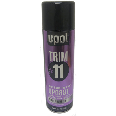 UPOL 881 Trim#11 High Build Top Coat, SILVER WHEELS-450 ml Aerosol -