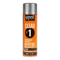 UPOL CLEAR #1 High Gloss Clear Coat Aerosol Spray Can 450ml UP 0796 -