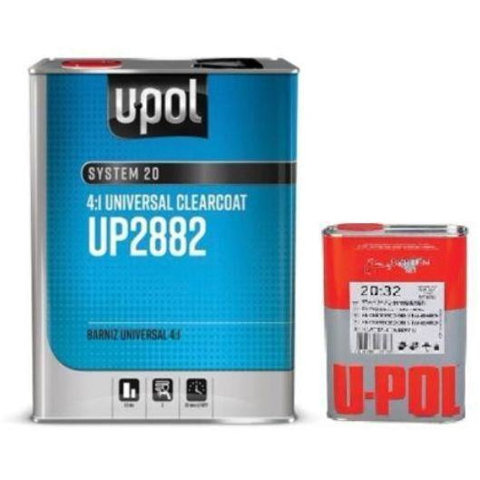 U-Pol 2K Universal Urethane Clearcoat 4:1, UP2882,  1 GAL with Hardener -