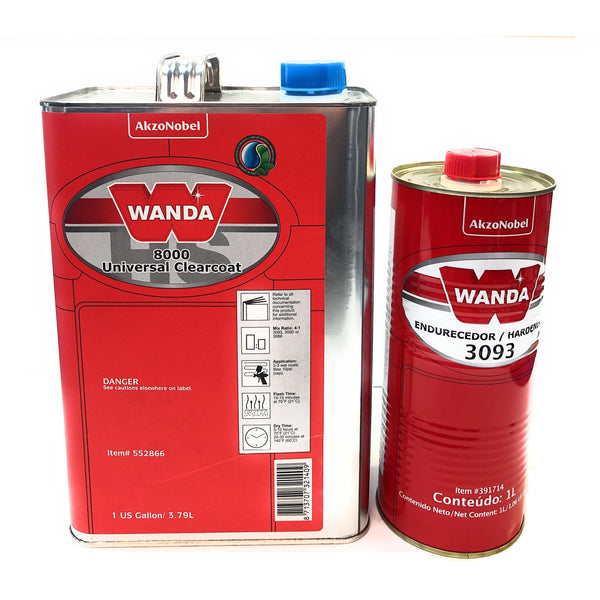 Universal Clearcoat Gallon Wanda 8000 with Qt Standard Hardener 3093