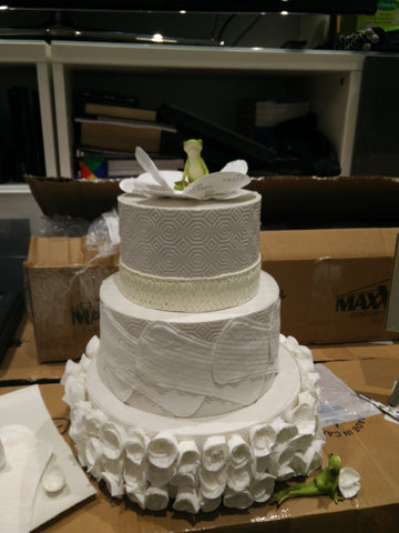 Our pad cake was a big hit at the show and was our WOW factor.