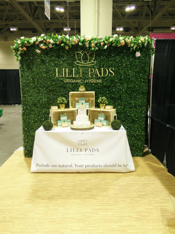 Our booth at the National Women's Show!