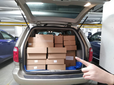 Van life & Inventory Transport!  So many boxes...