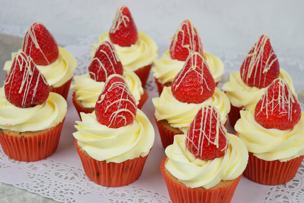Strawberry Celebration Cupcakes