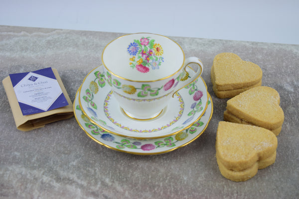 Vintage Floral China Tea Cup Gift Set