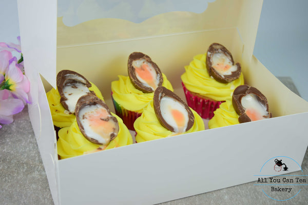 Easter Cream Egg Cupcakes