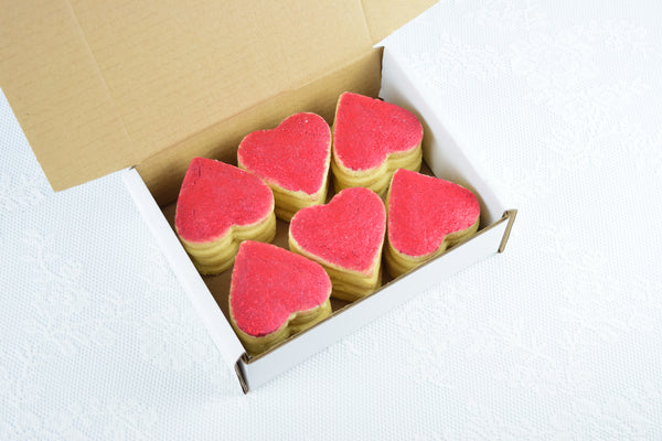 Red Heart Shortbread, Gift Box
