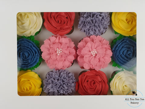 Bouquet of Flower Cupcakes