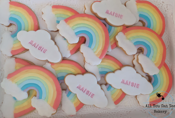 Cloud & Rainbow Biscuits