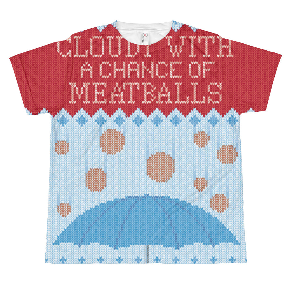 Kids Cloudy With a Chance of Meatballs Ugly Christmas TShirt + Movie ...