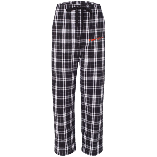 Embroidered Flannel Pants