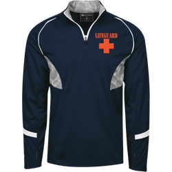 1/4 Zip Polyester Pullover with Camo Inserts