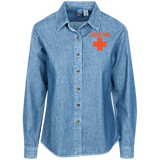 Embroidered Long Sleeve Denim Shirt