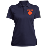 Performance Textured Three-Button Polo