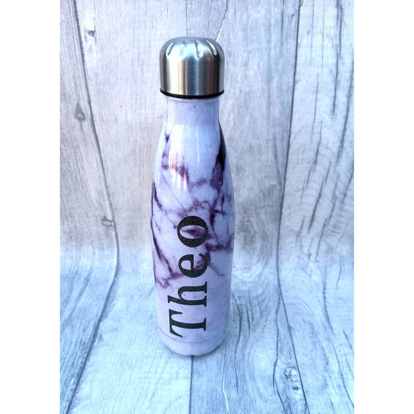 Stainless Steel Insulated Bottle - Black Marble