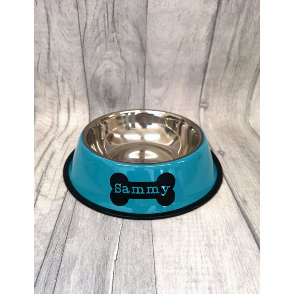 Blue Personalised Pet Bowl