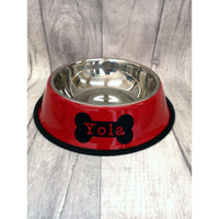 Red Personalised Pet Bowl