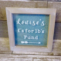 £'s for Lb's Frame - Wood Wash