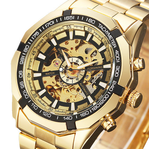 Waterproof Gold Skeleton Watch - MoonPitch