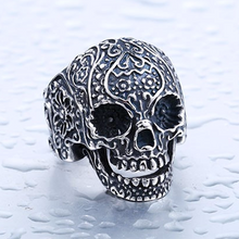Sterling Garden Skull Ring - FREE GIVEAWAY!!! - MoonPitch