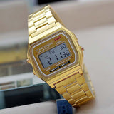Digital Vintage Gold Watch