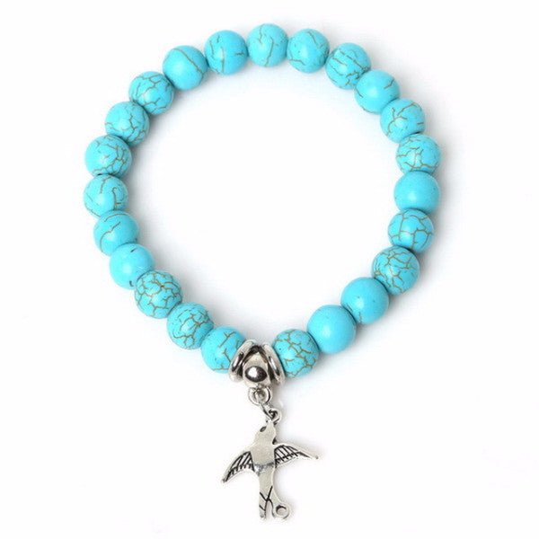 Turquoise Swallow Bracelet - MoonPitch