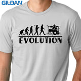 Military T Shirts men'S Short Sleeve Summer O-Neck Drummer Evolution Tee Shirt